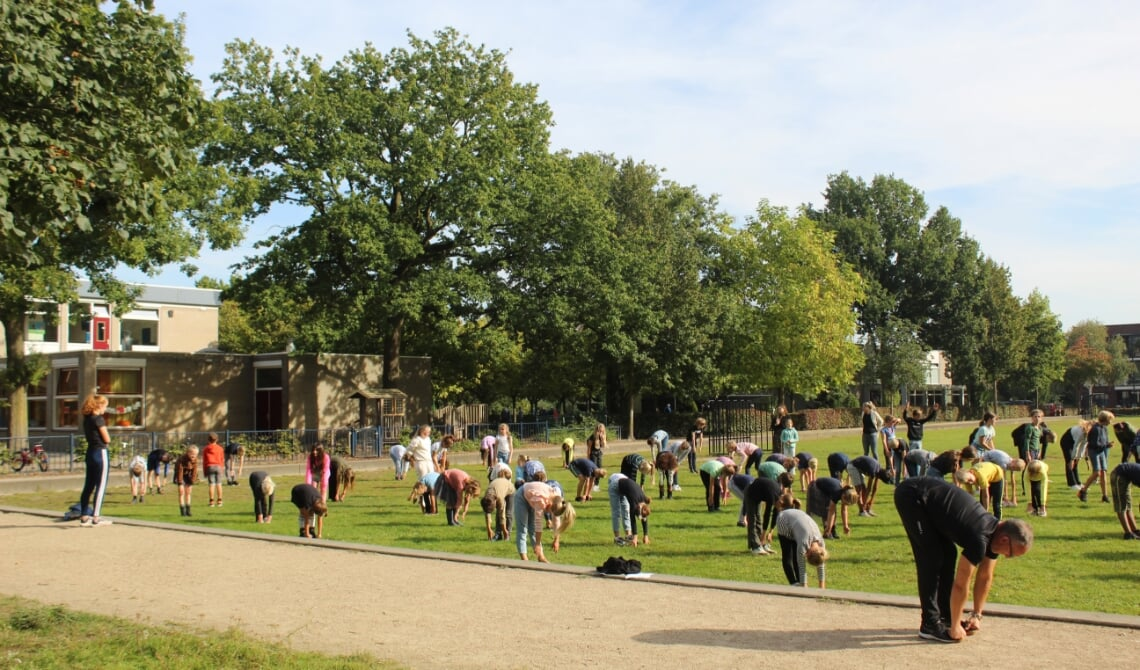 De kinderen van basisschool Dommelrode in actie!