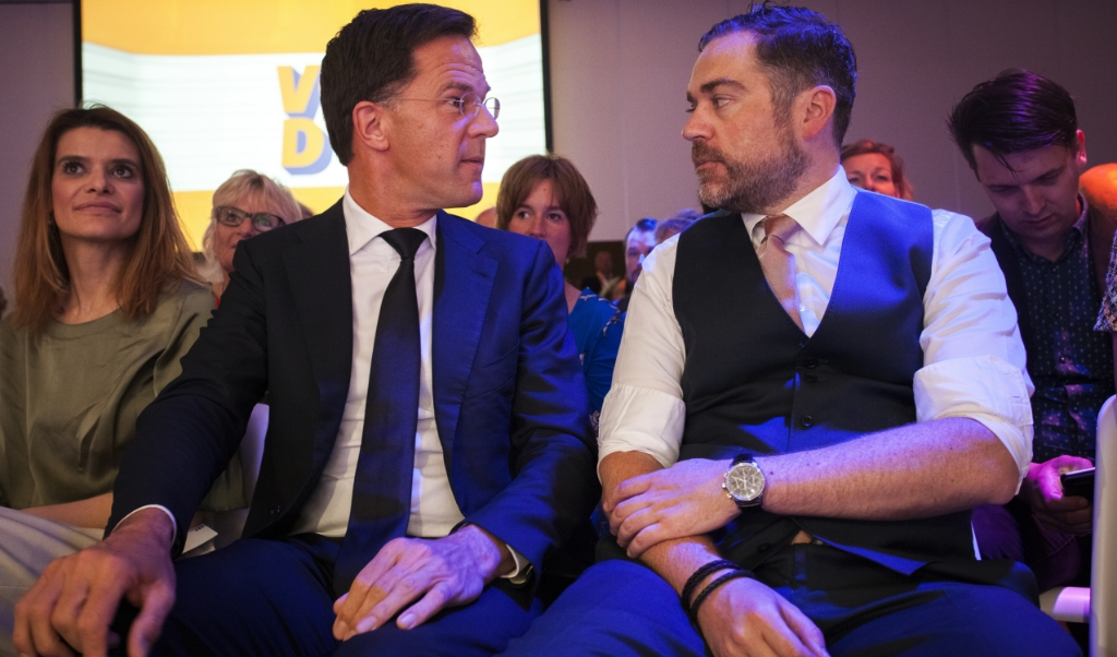Mark Rutte en Klaas Dijkhoff  (anp)
