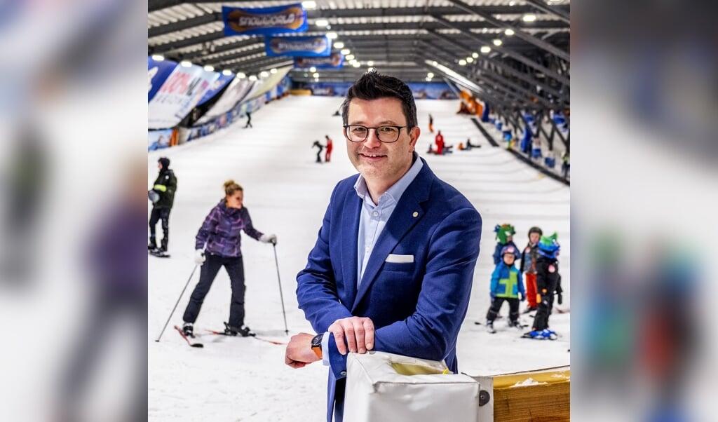 CEO Wim Hubrechtsen in de Snowworld-vestiging te Zoetermeer.  ( beeld Raymond Rutting)
