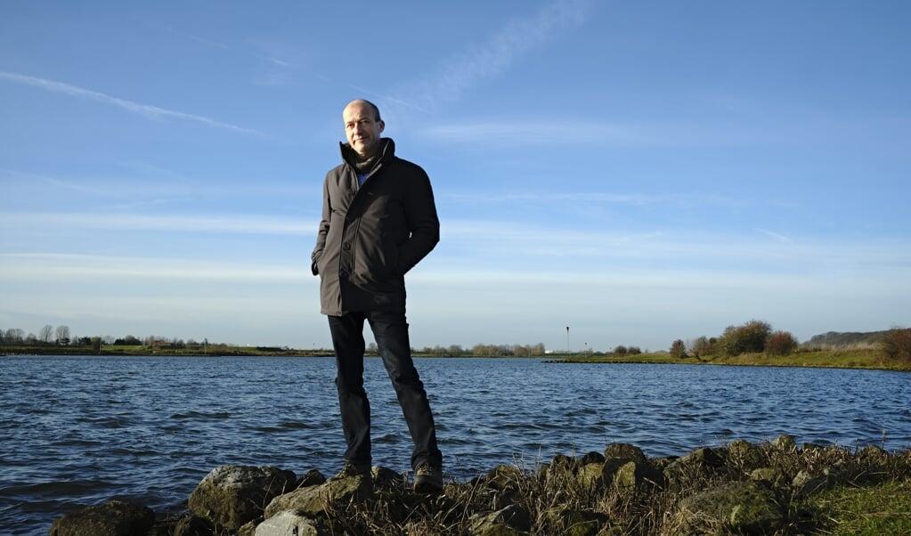 Reinier van den Berg bij De Blaauwe Kamer langs de Nederrijn: 'We hoeven niets ingewikkelds uit te vinden om CO2 op te slaan.'  ( beeld Dick Vos)