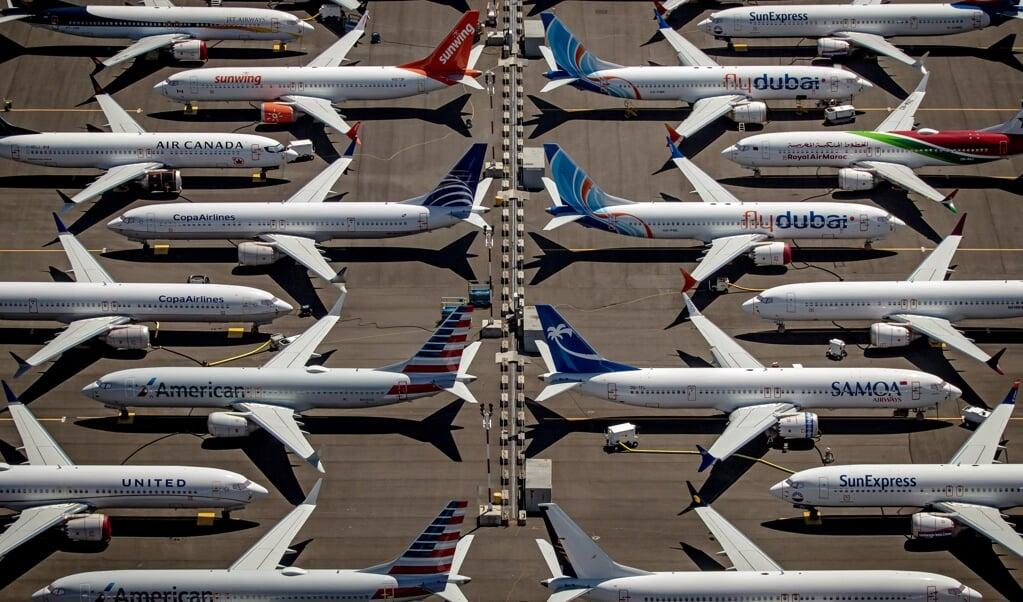 De Boeing 737 Max werd aan de grond gehouden nadat eind 2018 en begin 2019 twee toestellen waren neergestort.  (beeld epa / Gary He)