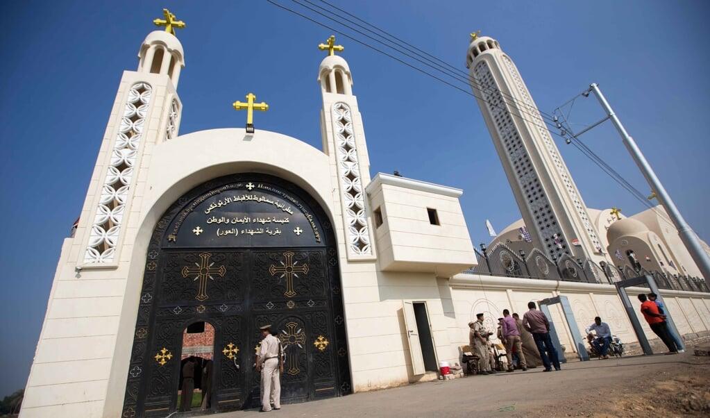 De koptische kerk in Al-Our.  (beeld afp / Ibrahim Ezzat)