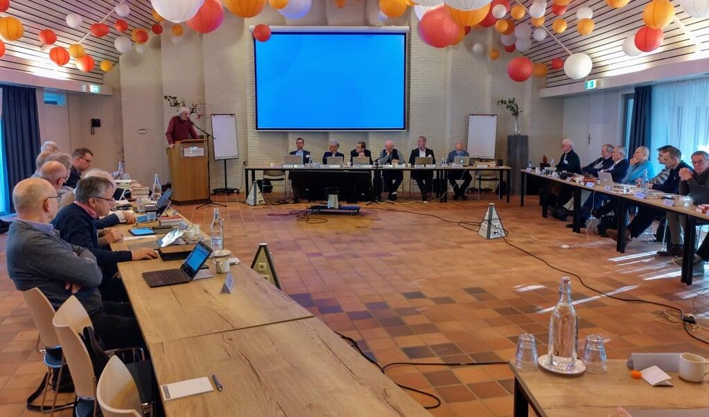 Januari 2020: de vrijgemaakt-gereformeerde synode vergadert over de kwestie vrouw en ambt.  (beeld nd)