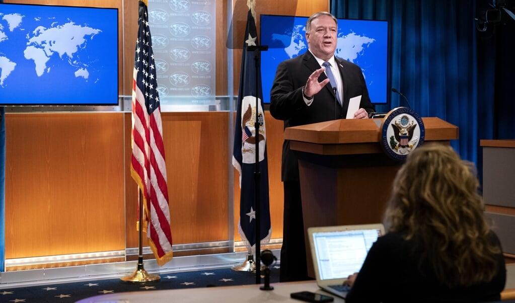 Mike Pompeo zegt zich voor te bereiden op 'een tweede termijn Trump'.  (beeld afp / Jacquelyn Martin)