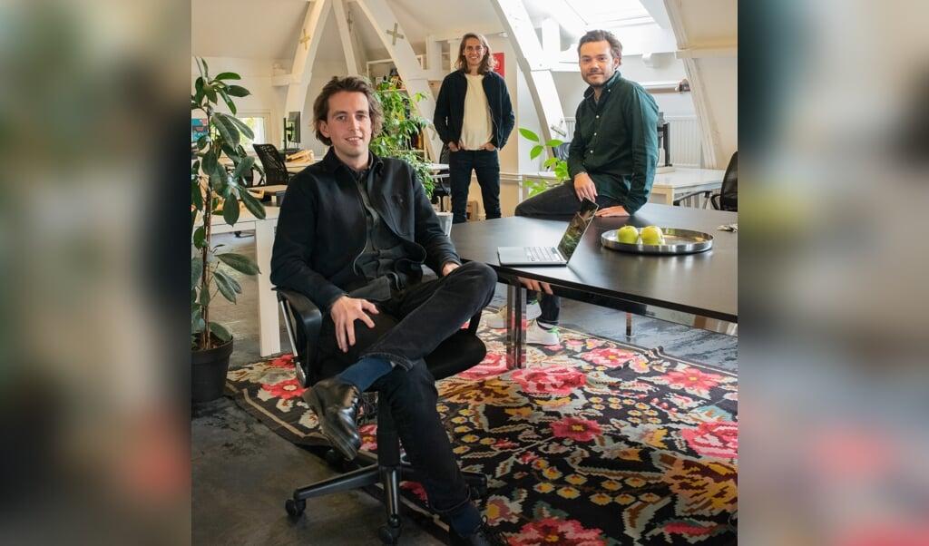 De directie van Pacmed, van links af: Willem Herter, Wouter Kroese en Hidde Hovenkamp.  (beeld Sabine van Wechem)