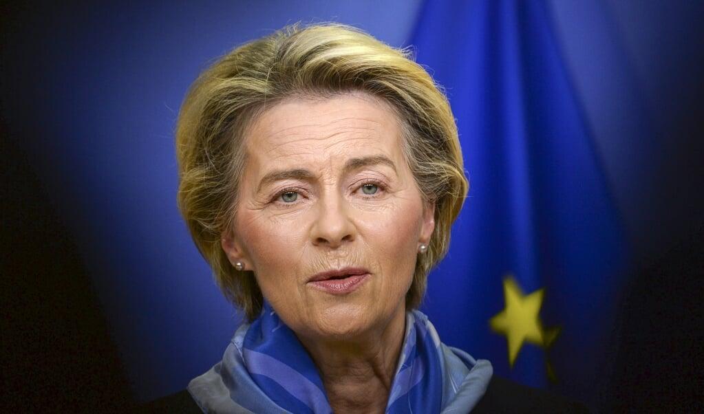 EU-chef Ursula von der Leyen  (beeld afp / Johanna Geron)