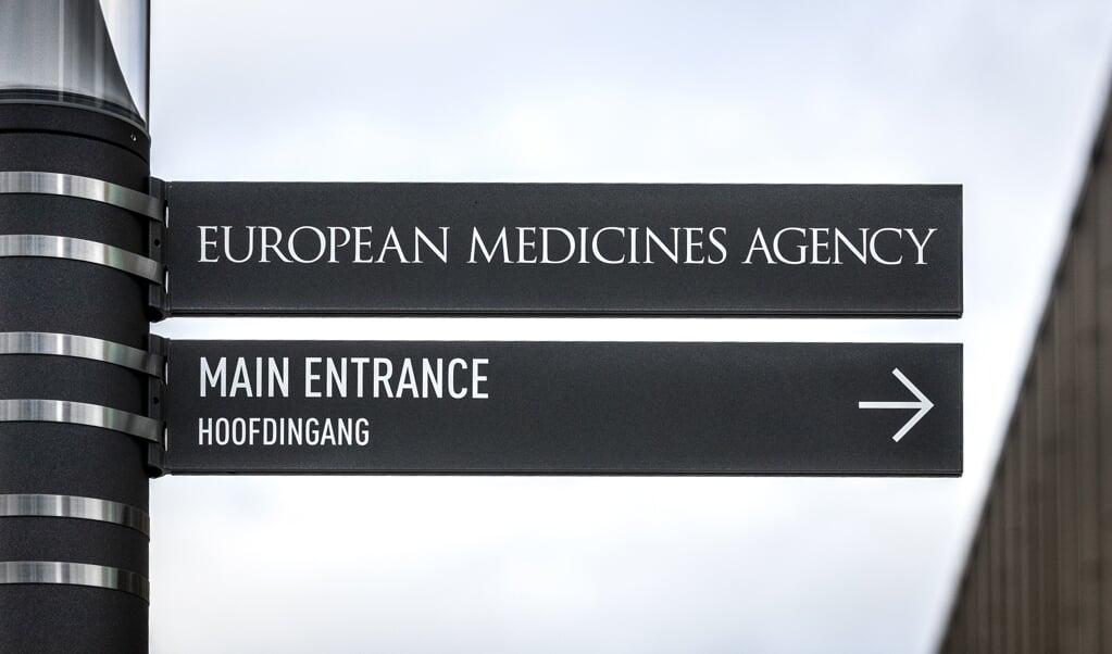 Het hoofdkantoor van het Europese agentschap in Amsterdam, dat de coronavaccins beoordeelt.  (beeld anp / Remko de Waal)