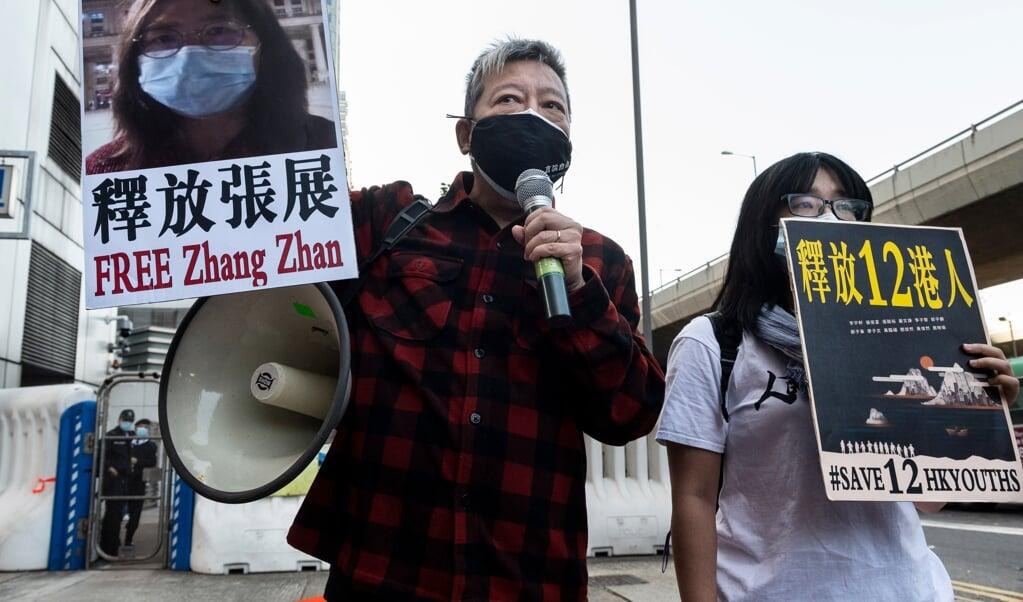 In augustus probeerden de activisten te vluchten en met een boot Taiwan te bereiken.   (beeld epa / Miguel Candela)
