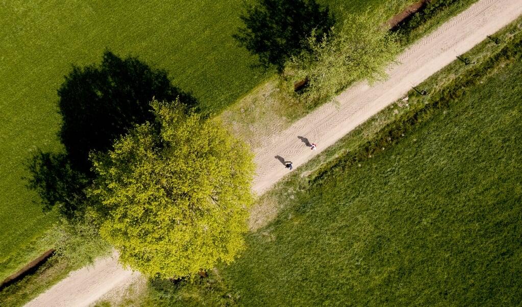 Een dronefoto van het festivalterrein van de Zwarte Cross.   (beeld anp)