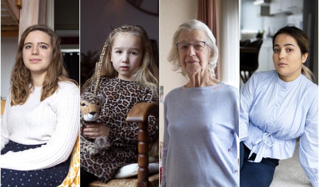 V.l.n.r.: Maria Teresa Cattani, Maria Luiten, Maria Neerincx, Mariam.  (beeld Ruth Catsburg)