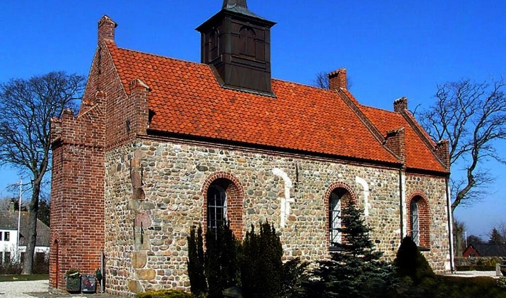 De lutherse kerk in Frederiksund (Denemarken).  (beeld wikipedia)