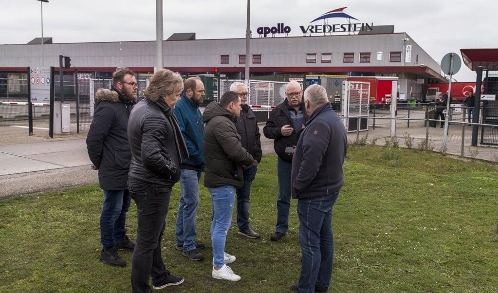 Het personeel van Vredestein in Enschede is woedend over het aangekondigde massaontslag.  (beeld anp/Vincent Jannink)