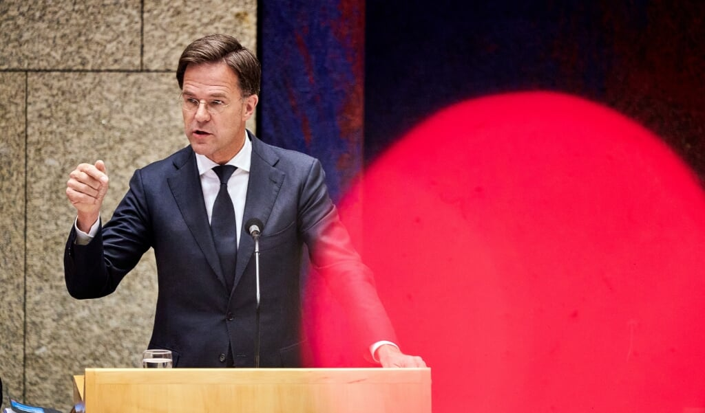 2020-07-01 20:20:10 Prime Minister Mark Rutte in the House of Representatives during a debate on institutional racism in the Netherlands. In The Hague, the Netherlands, 1 July 2020. ANP PHIL NIJHUIS  (beeld anp / Phil Nijhuis)