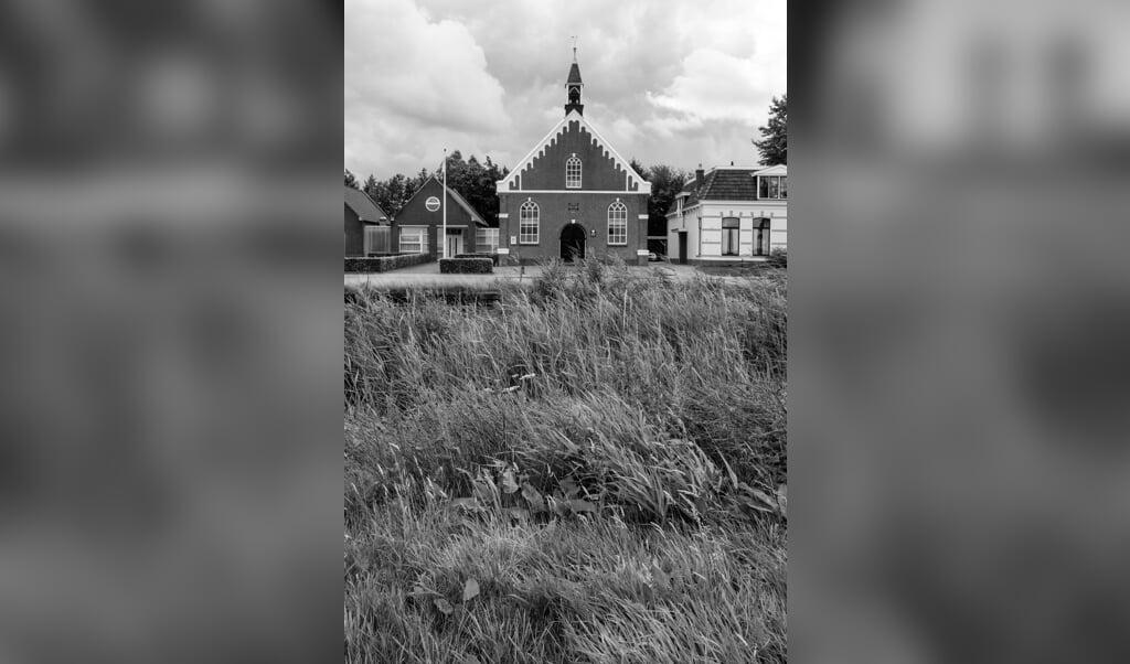 Protestantse 'Doarpstsjerke' in het Friese Nij Beets.  (beeld Jeroen Taalman)
