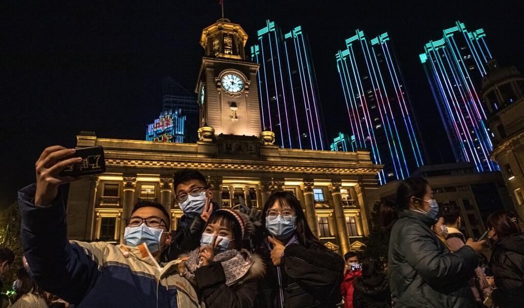 Nieuwjaar in Wuhan.  (beeld epa / Roman Pilipey)