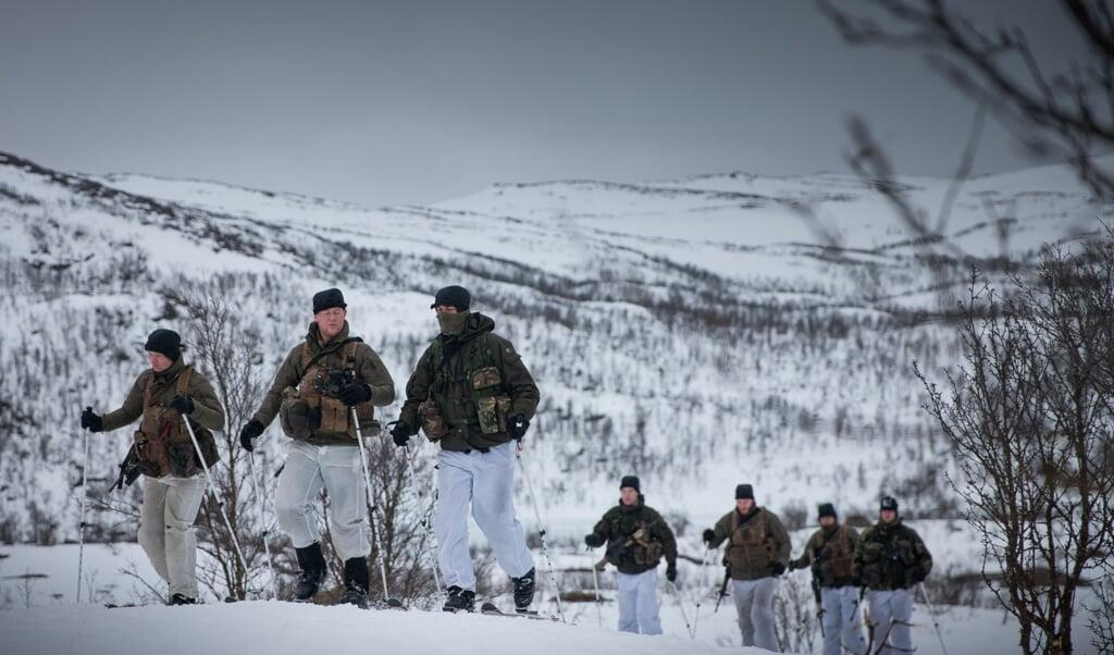 Nederlandse mariniers zijn thuis in quarantaine geweest en vervolgens getest voor ze naar Noorwegen gingen.  (beeld mediacentrum defensie)