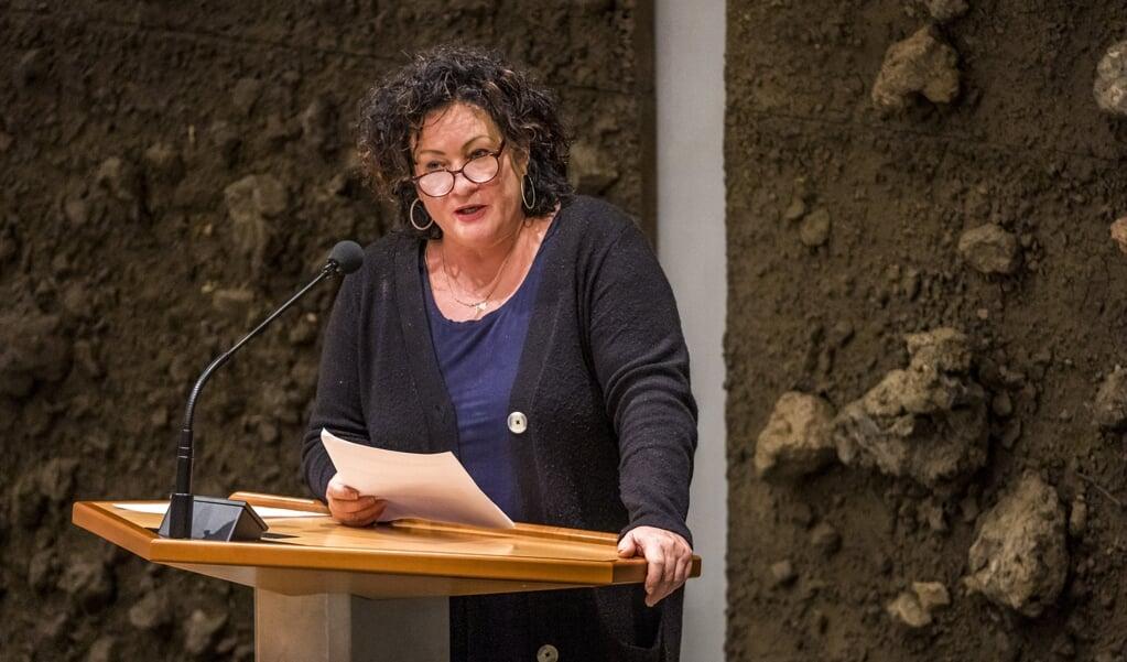 Caroline van der Plas (BBB) in de Tweede Kamer.  (beeld anp / Lex van Lieshout)