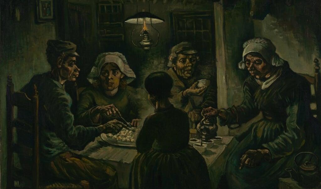 Vincent van Gogh, 'De aardappeleters', april-mei 1885, olieverf op doek, 82 x 114 cm, Van Gogh Museum.  (beeld Van Gogh Museum)