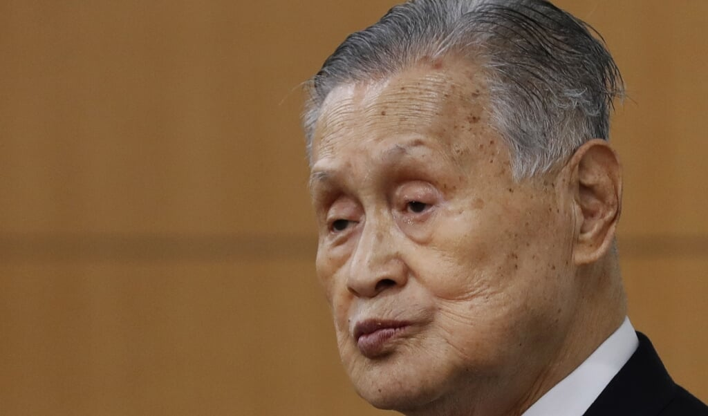 Yoshiro Mori  (beeld epa / Kim Kyung-hoon)