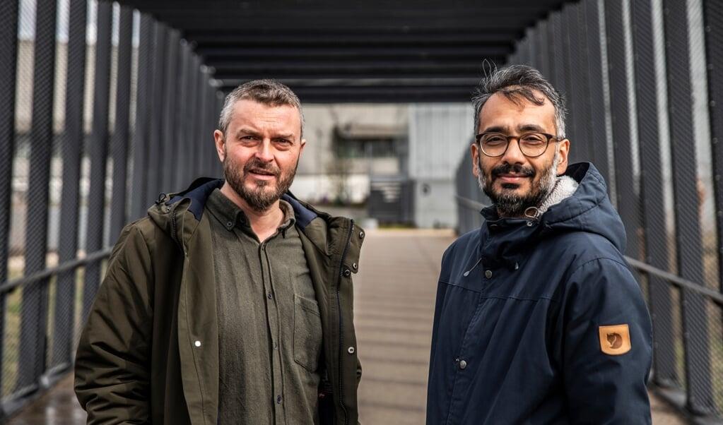 Aan een nieuw islamitisch manifest werd vijf jaar gewerkt door islamoloog Kaspar Mathiesen (links) en imam Naveed Baig.  (beeld anp / Olafur Steinar Gestsson)