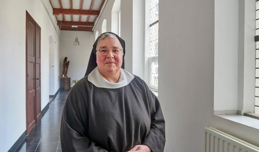 Zuster Angela Holleboom in het klooster te Megen.  (beeld Van Assendelft)
