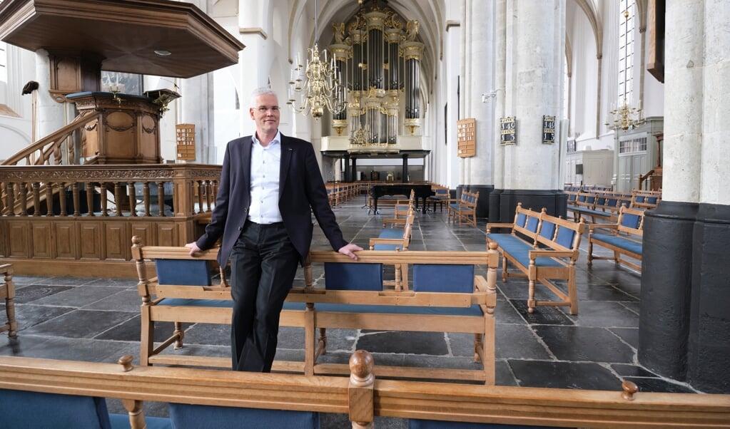 Dominee Willem-Jan Dekker: 'Je kunt niet zeggen dat we deze mensen met gejuich begroeten.'  (beeld Dick Vos)