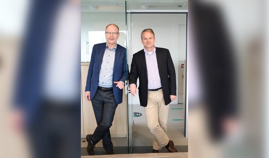 Lans Bovenberg en Paul van Geest.  (beeld Dick Vos)