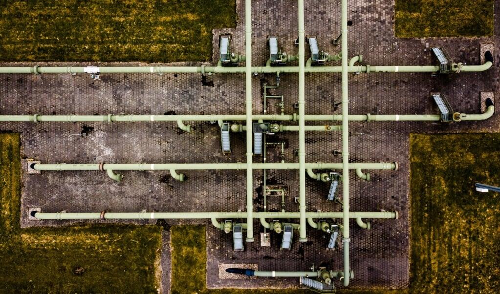 Gaswinningslocatie van de NAM in Muntendam.  (beeld anp / Sem van der Wal)