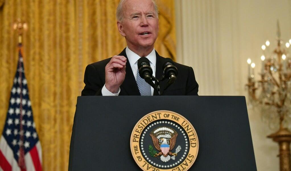 President Joe Biden  (beeld afp / Nicholas Kamm)