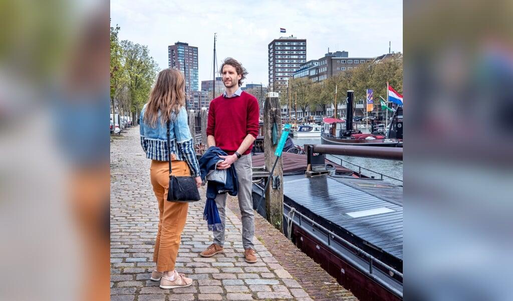 Annemieke en Philippe beleven hun eerste date dankzij de Breeze-app.  (beeld Raymond Rutting)