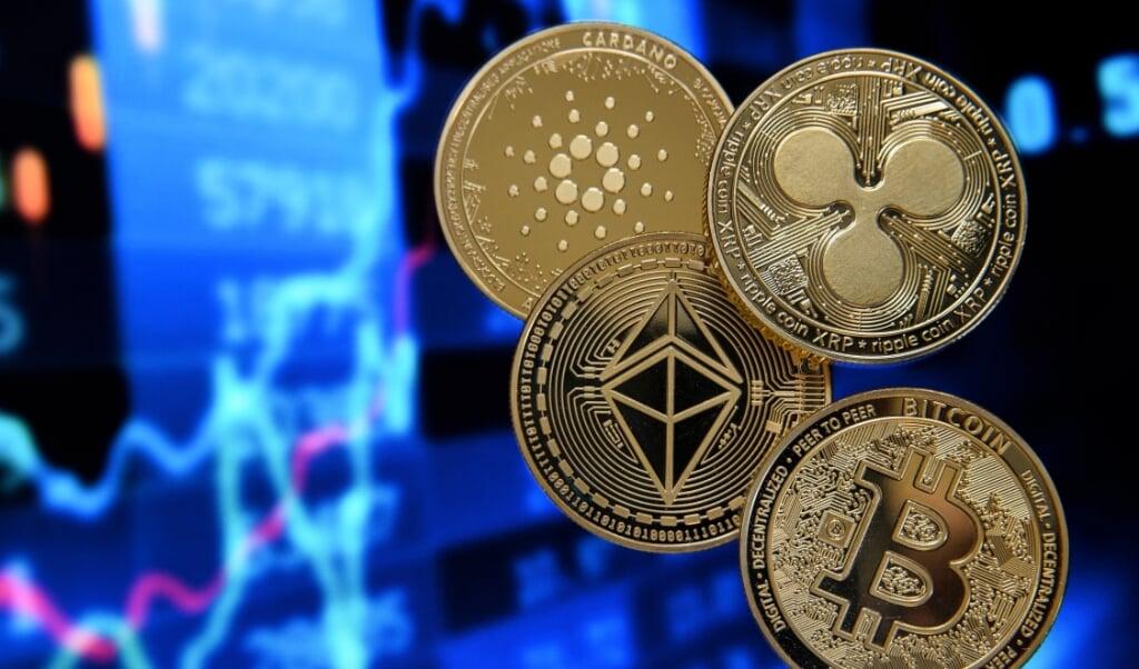 Na bitcoin is ethereum nummer 2 op de markt van de cryptomunten en wint marktaandeel; met 300 miljard heeft men 15 procent van de markt.  (beeld epa / Sascha Steinbach)