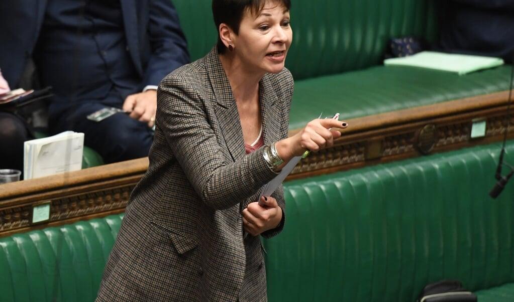 Lagerhuislid Caroline Lucas (Groene Partij) vroeg zich af waar de Britse regering mee bezig is. 'Wat voor een land willen ze dat we zijn?'  (beeldafp / Jessica Taylor)