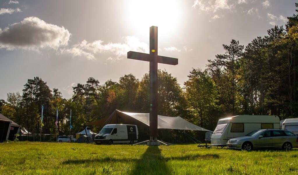 Dit jaar werd de pinksterconferentie onder meer op een camping gevierd.  (beeld Dick Vos)