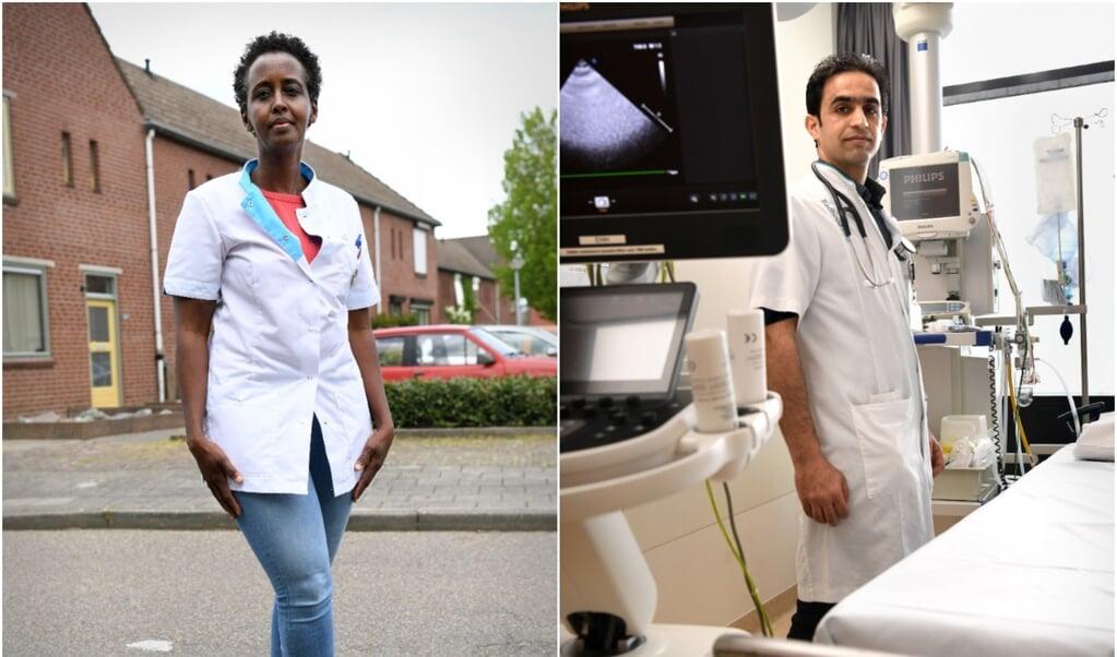 Zainab Osman en Rami Alfaouri  (beeld Marcel van den Bergh)