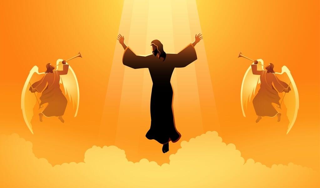 Na weer vier nieuwe zienswijzen op de hemelvaart van Jezus te hebben gelezen, houd ik het als amateurtheoloog op het plotselinge afscheid van degene die je het meest liefhebt. Denk je eens in!  (beeld Getty Images/iStockphoto)