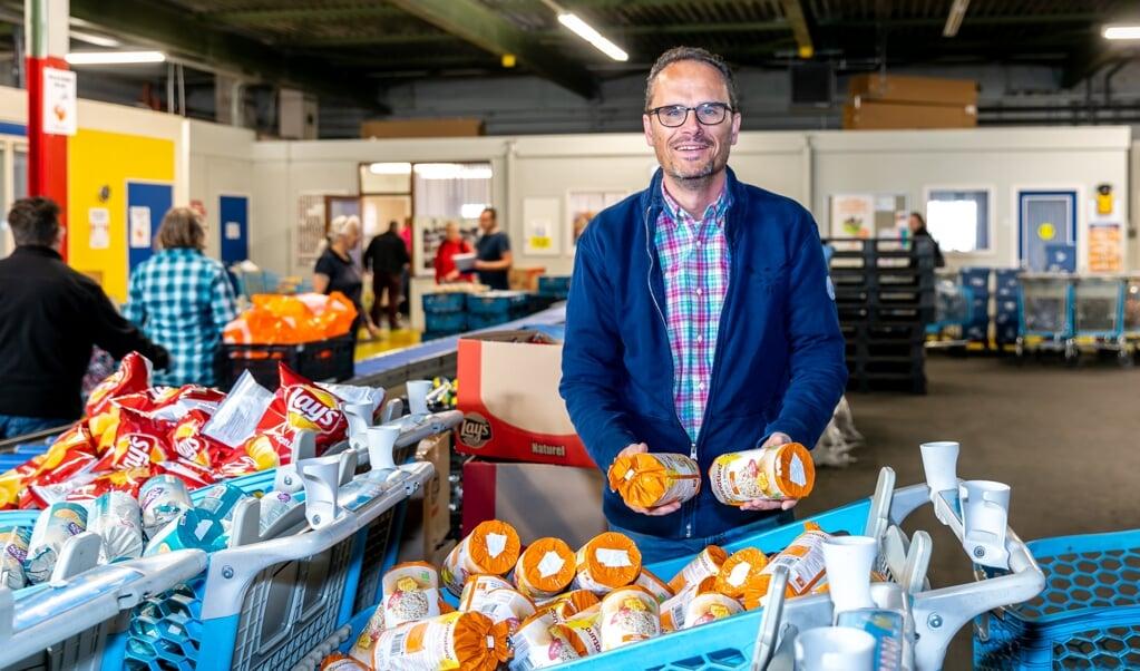 Bij de Groningse voedselbank is de hoeveelheid verse producten met twee derde afgenomen.  (beeld voedselbank)
