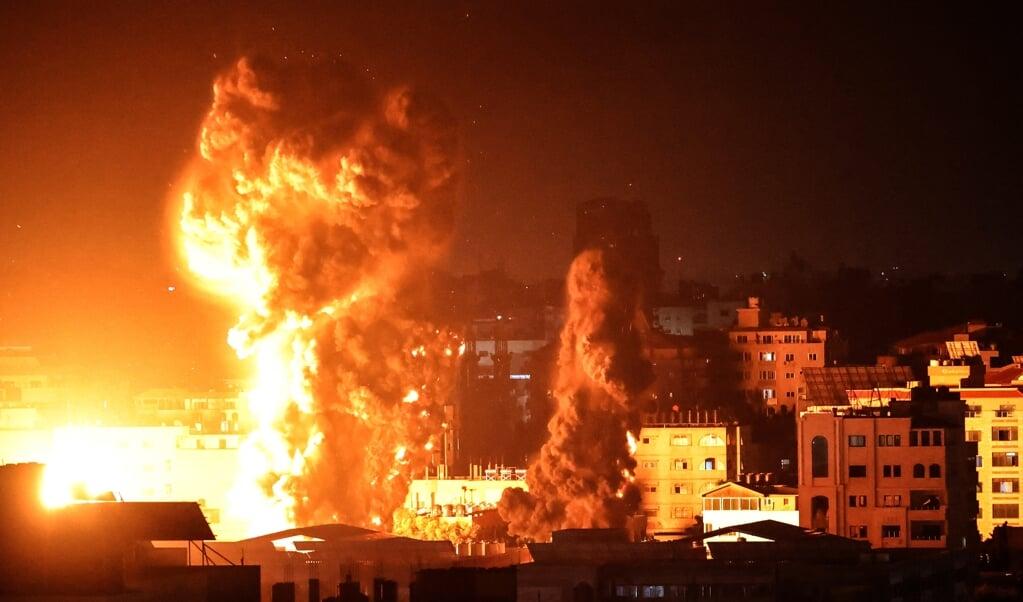 Opnieuw zware luchtaanvallen op Gaza.  (beeld afp / Anas Baba)
