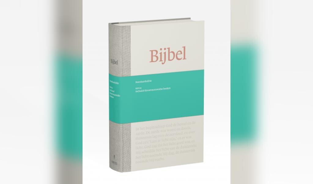 Omslag van de revisie van de Nieuwe Bijbelvertaling (2021).  (beeld nbg)
