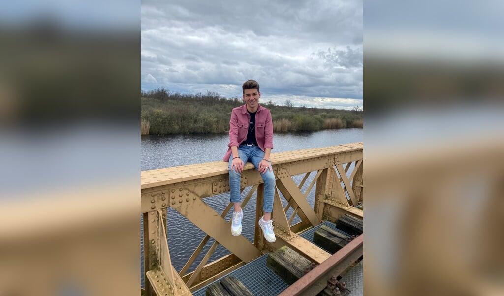 Daniel van den Bergh (20): 'Natuurlijk doet het me iets als ik word uitgescholden, maar ik probeer recht vooruit te kijken en door te gaan waar ik mee bezig ben.'  (beeld nd)