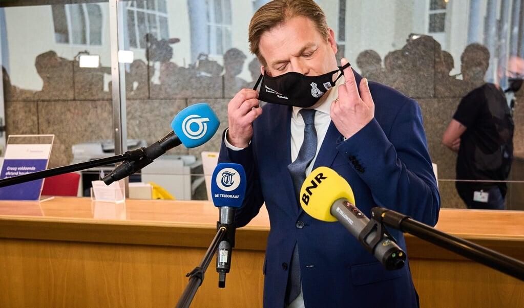 De laatste keer dat Pieter Omtzigt in de Tweede Kamer was, bij zijn beëdiging.  (beeld anp / Phil Nijhuis)