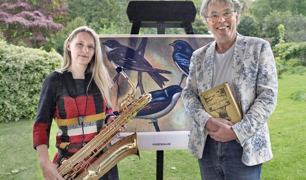 De saxofonisten Frank Nielander en Inga Rothammel.  (beeld Flip Franssen)