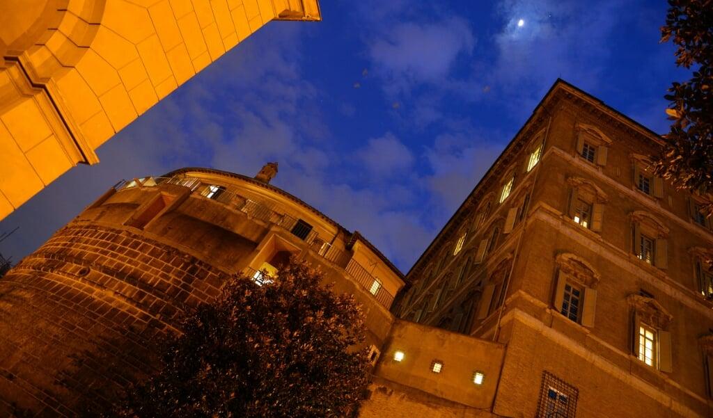 Het hoofdkantoor van de Vaticaanse bank IOR in Rome.  (beeld afp / Gabriel Bouys)