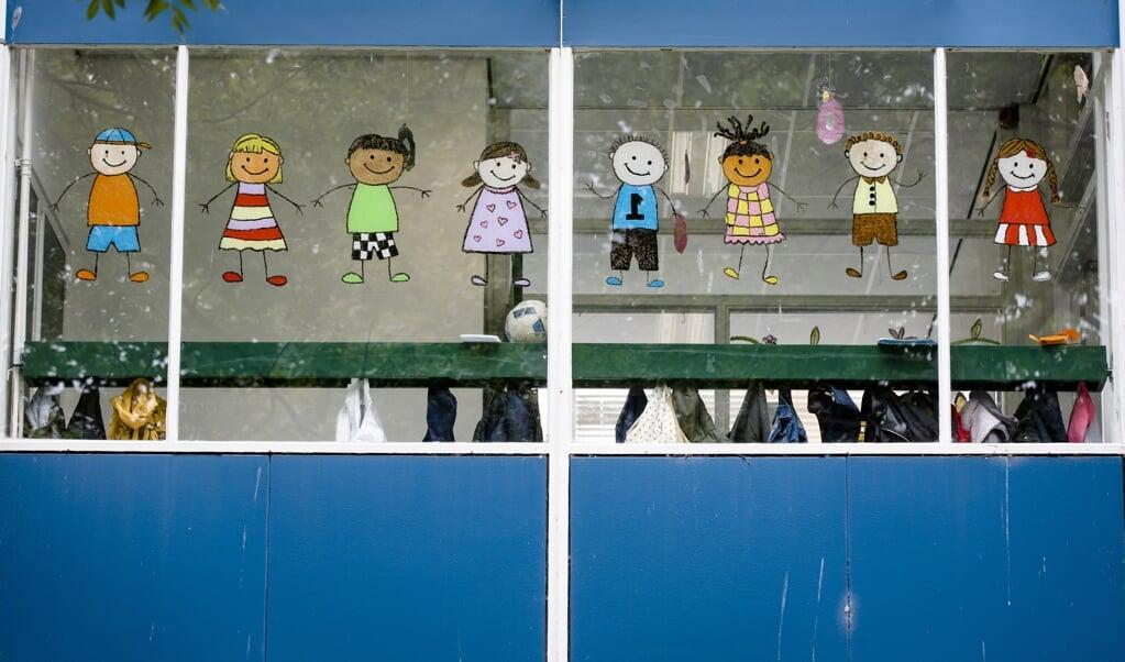 Exterieur van basisschool Yunus Emre in Den Haag. Uitbreiding van die school naar het Westland riep in 2019 politieke weerstand op.  (beeld anp / Bart Maat)