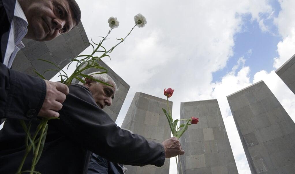 Het monument voor de slachtoffers van de Armeense genocide, in de Armeense hoofdstad Yerevan.  (beeld afp / Karen Minasyan)