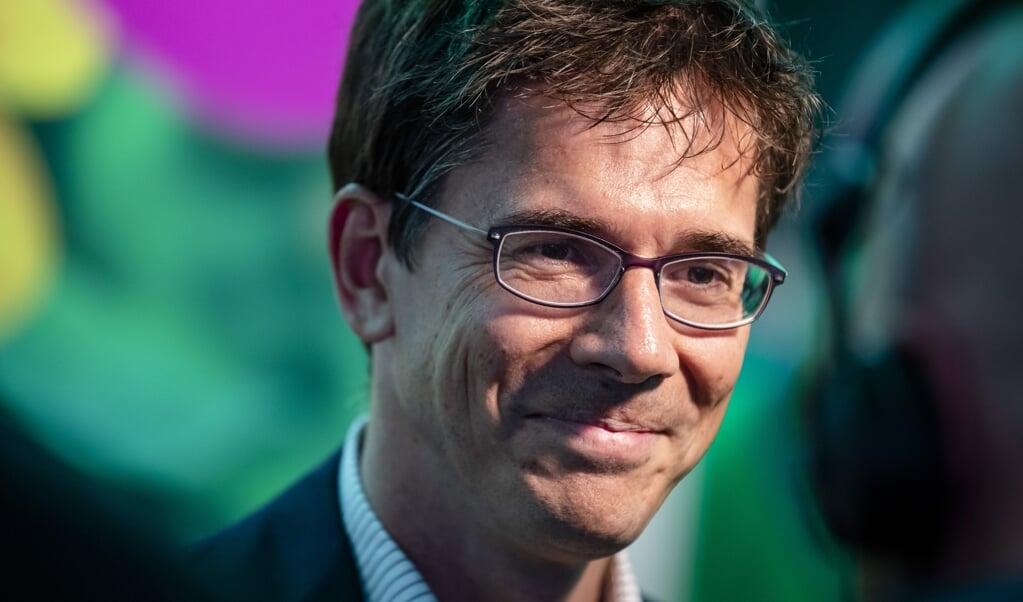 GroenLinks-Europarlementariër Bas Eickhout vindt de vermindering van broeikasgassen goed nieuws. Maar hij ziet ook sectoren achterblijven.  (beeld anp / Bart Maat)
