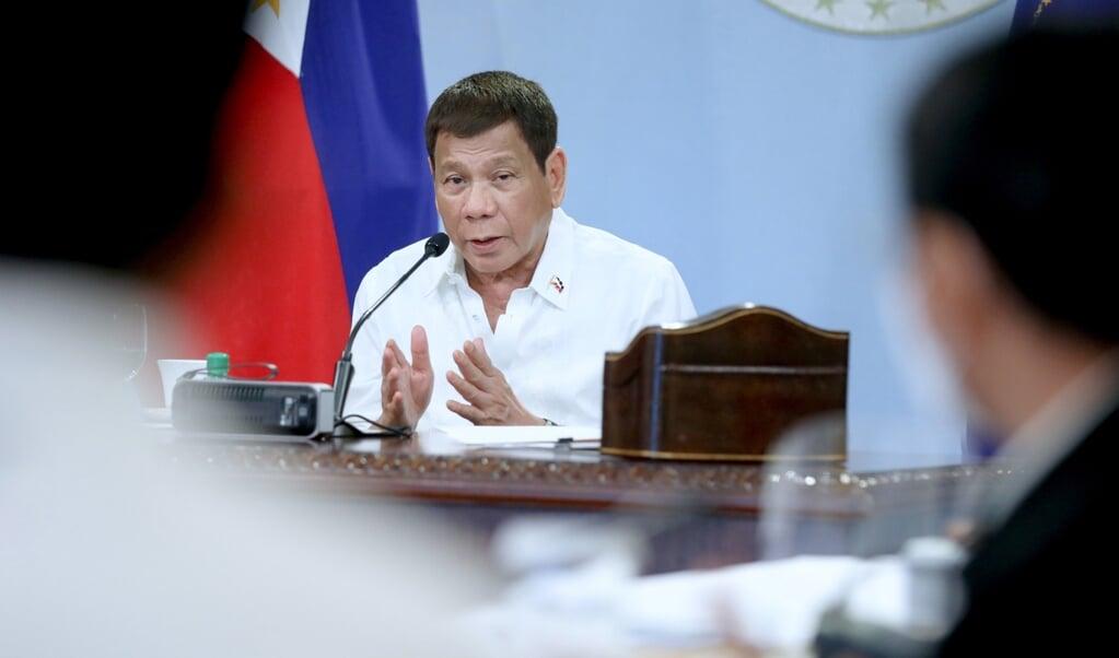 President Duterte startte in 2016 een 'oorlog tegen drugs'.  (beeld epa / Robinson Ninal)