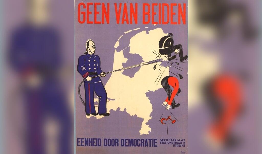 De beweging Eenheid door Democratie zocht een uitweg uit de crisis door zich tegen fascisme en communisme te keren.  (beeld nd)