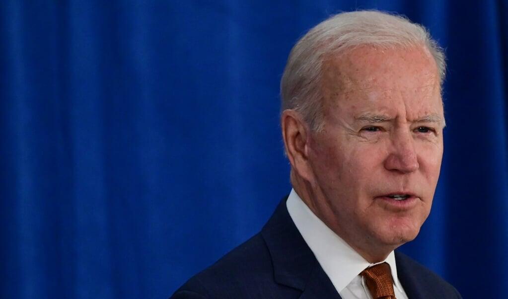 Joe Biden zet de sancties tegen China door.  (beeld Jim Watson / afp)