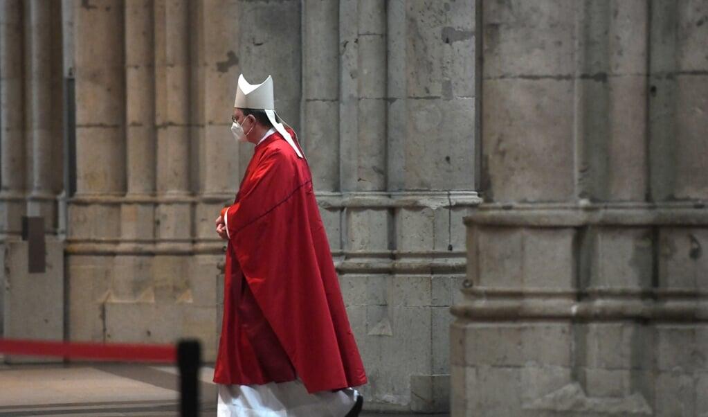 Kardinaal Rainer Maria Woelki, de aartsbisschop van Keulen.  (beeld afp / Ina Fassbender)