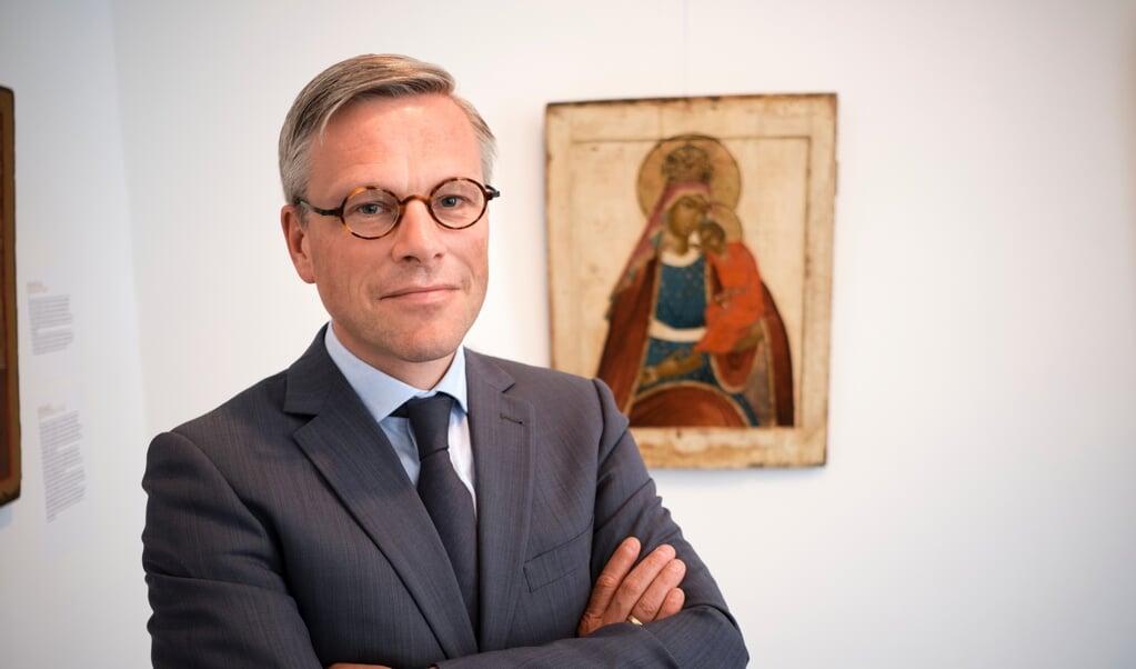 Arnold Huijgen: 'Protestanten zijn vergeten dat Maria als moeder van alle gelovigen, als de eerste die Christus (letterlijk) omarmde, waardering verdient.'  (beeld Dick Vos)